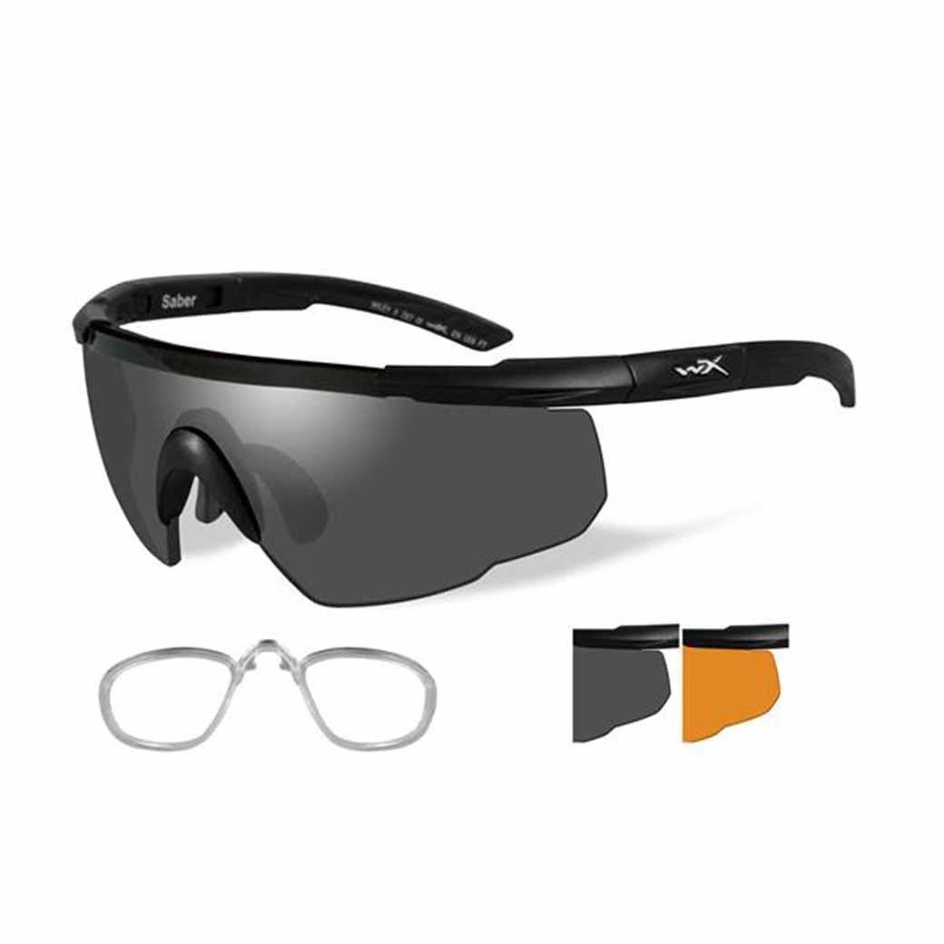 WileyX Saber Advanced - 2 Lens - Smoke Grey - Light Rust (Frame - Matte Black)