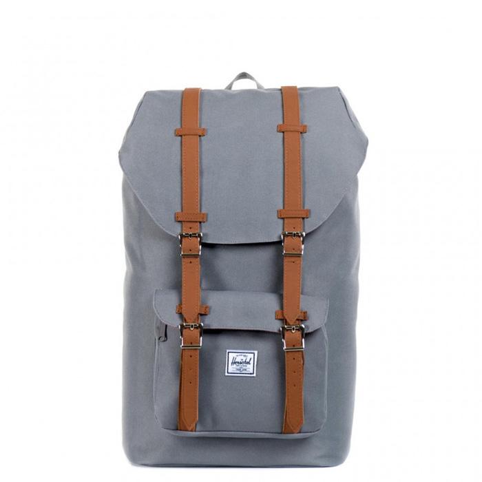 Herschel Little America - Grey/Tan Synthetic Leather