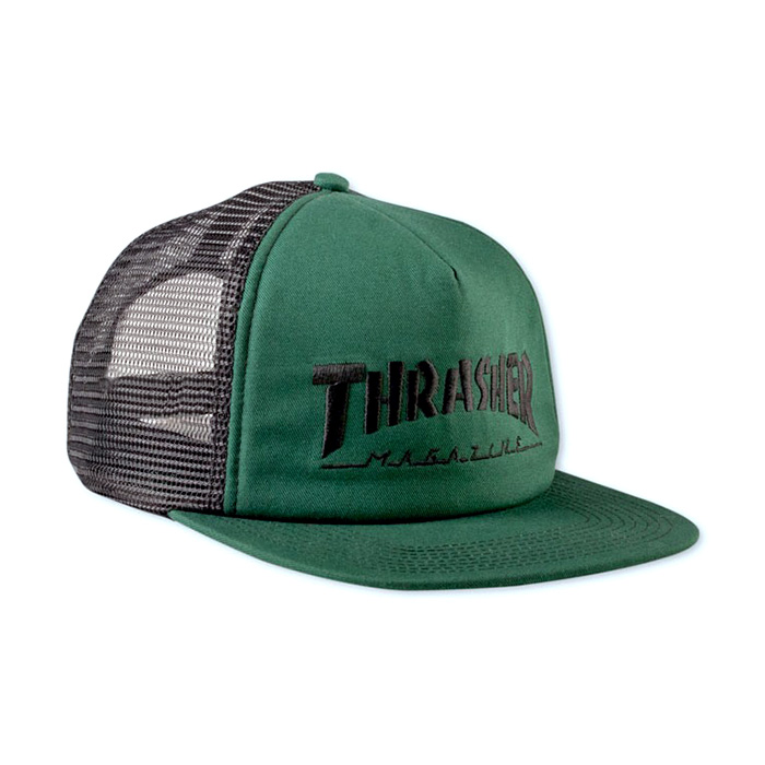 Thrasher Logo Mesh Cap - Green / Black