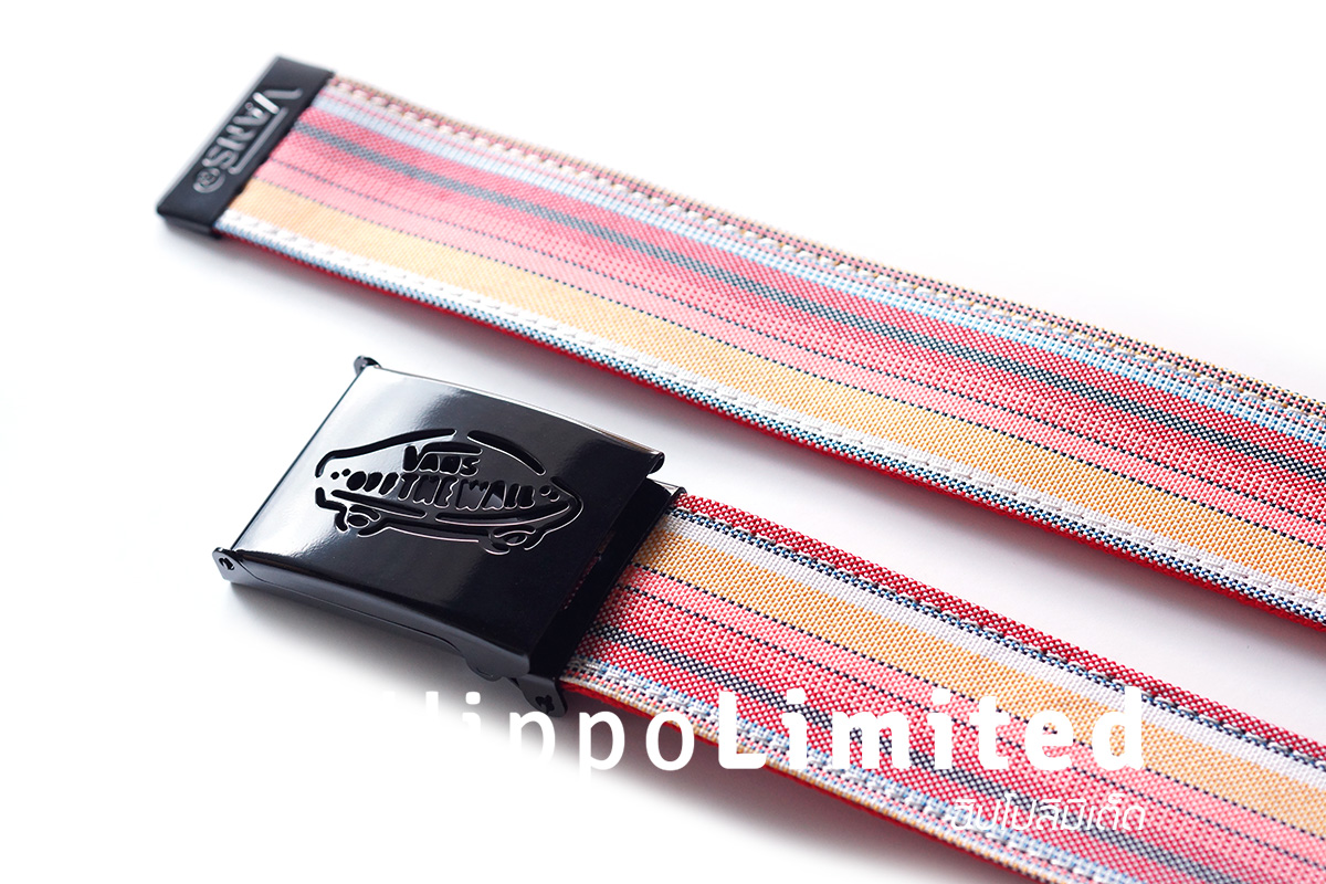 Vans Reverse Web Belt - Red / Assorted