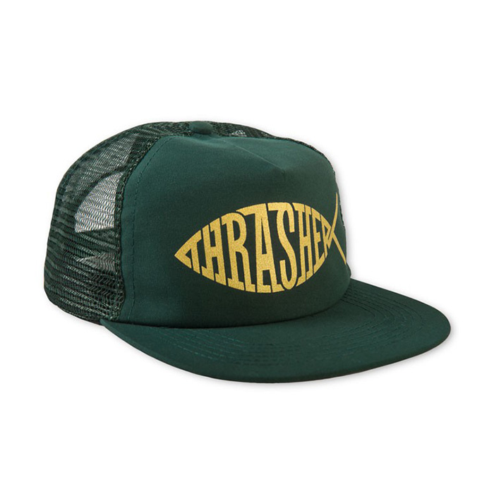 Thrasher Fish Mesh Snapback - Green