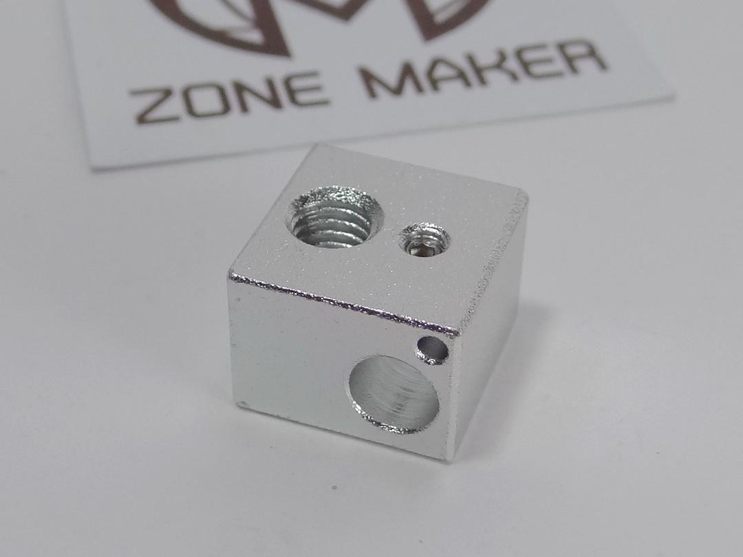 Aluminium Heat Block for E3D V5 J-head 3D Printer 16mm x 16mm x 12mm