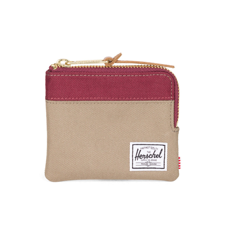 Herschel Johnny Wallet - Brindle / Windsor Wine