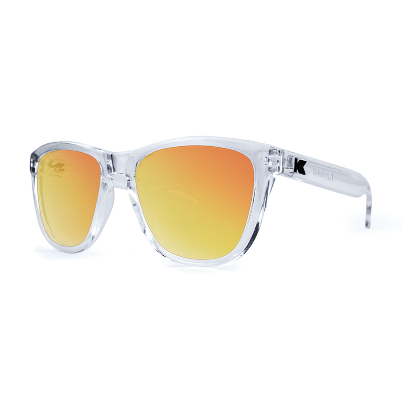 Knockaround Premiums Sunglasses - Clear / Red Sunset