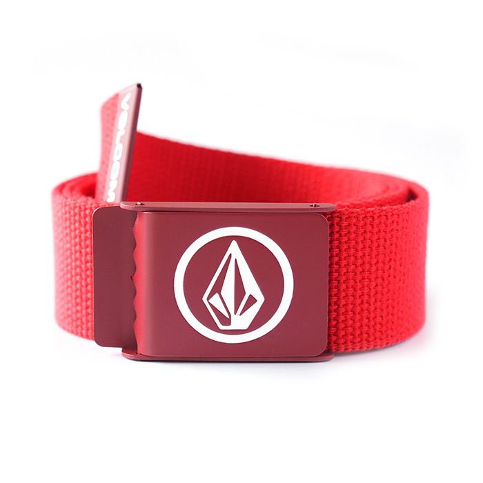 Volcom Circle Web Belt - Red