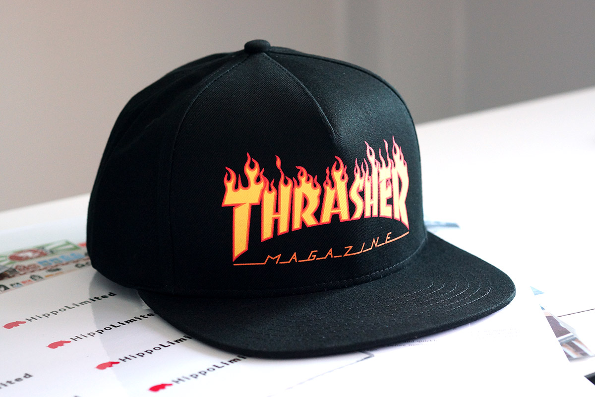 หมวก Thrasher Flame Logo Snapback Hat - Black