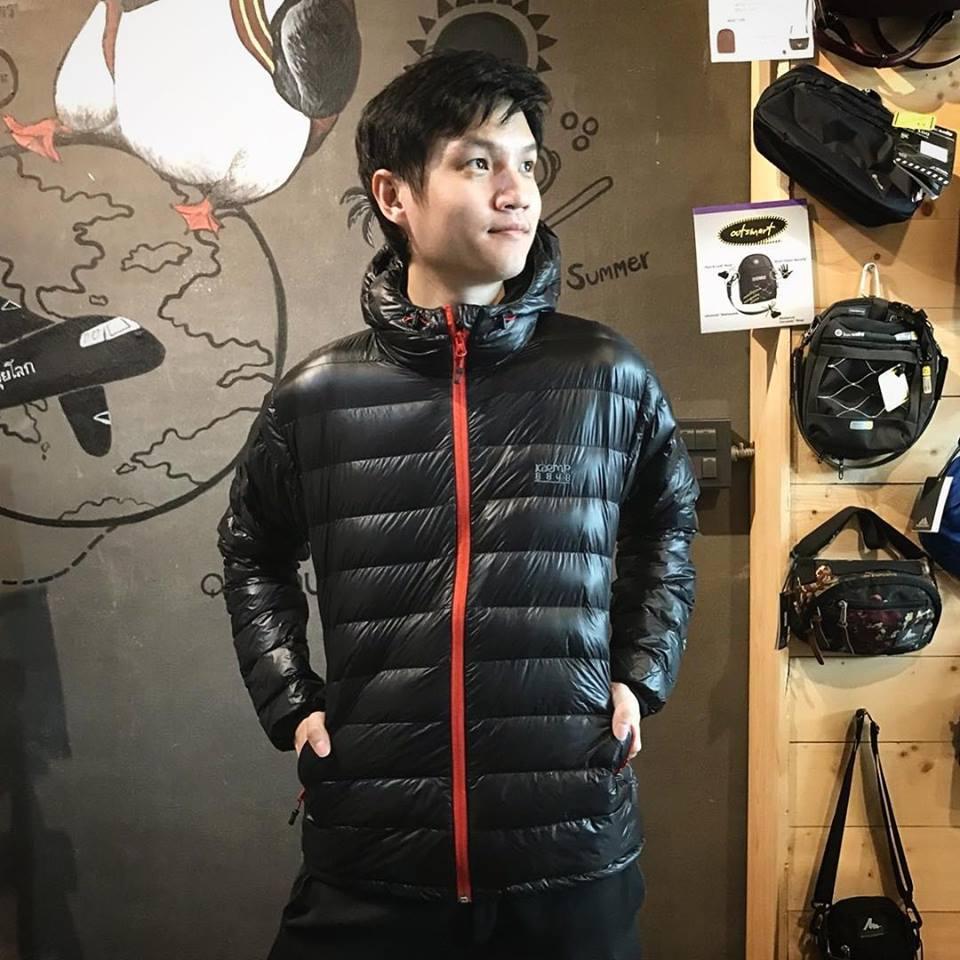KAEMP8848 DOWN JACKET FOR MEN (Chilli) เสื้อขนเป็ดสำหรับ -10 ถึง -15 องศา - BLACK