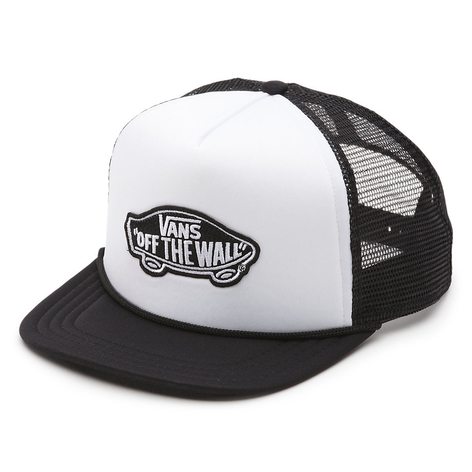 Vans Classic Patch Trucker Hat - White / Black