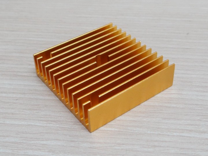 Heat sink Gold 40 x 40 x11 for 3D Printer Extruder MK7 / MK8