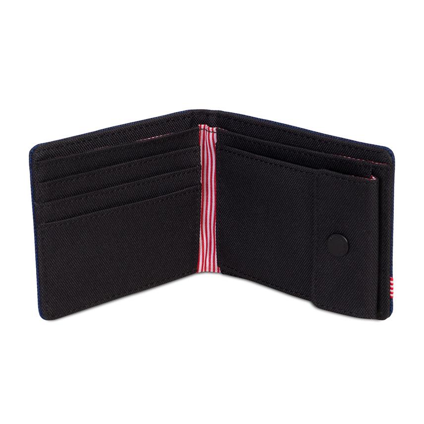 กระเป๋าสตางค์ Herschel Roy Wallet | Coin - Eclipse Crosshatch - ด้านใน