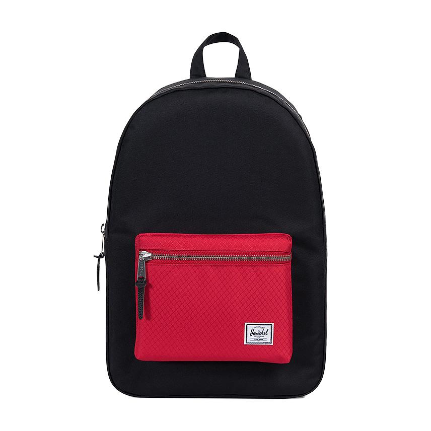 Herschel Settlement Backpack - Black / Scarlet