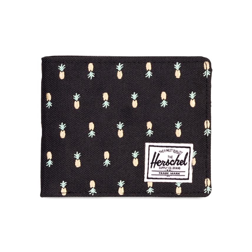 Herschel Roy Wallet - Black Pineapple / Embroidery / RFID