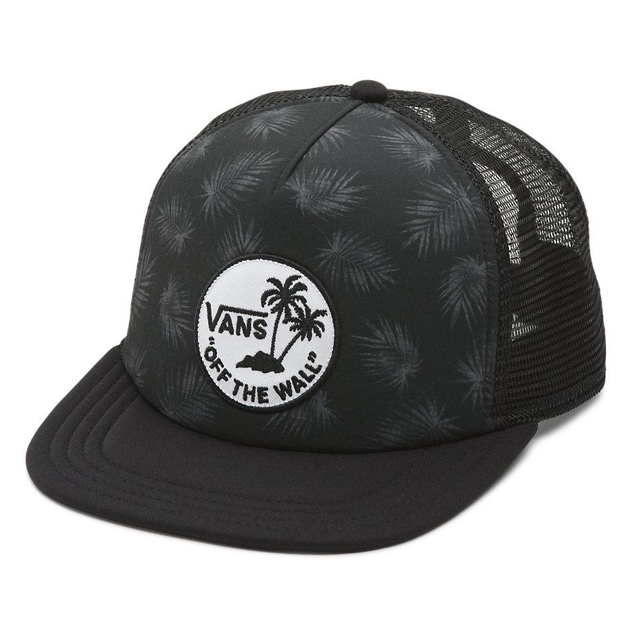 Vans Surf Patch Trucker Hat - Tonal Palm Black