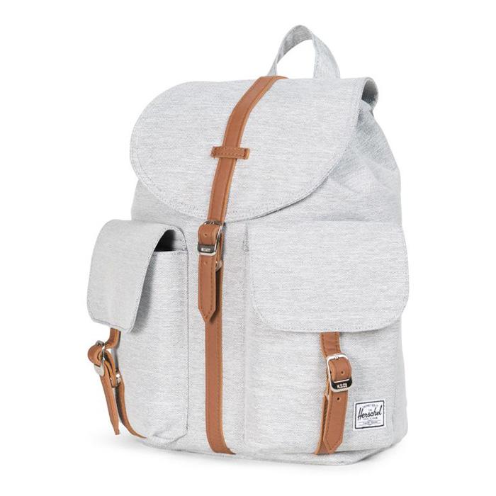 Herschel Dawson Backpack | XS - Light Grey Crosshatch ด้านหน้ามีช่องเก็บของแยกสองช่อง
