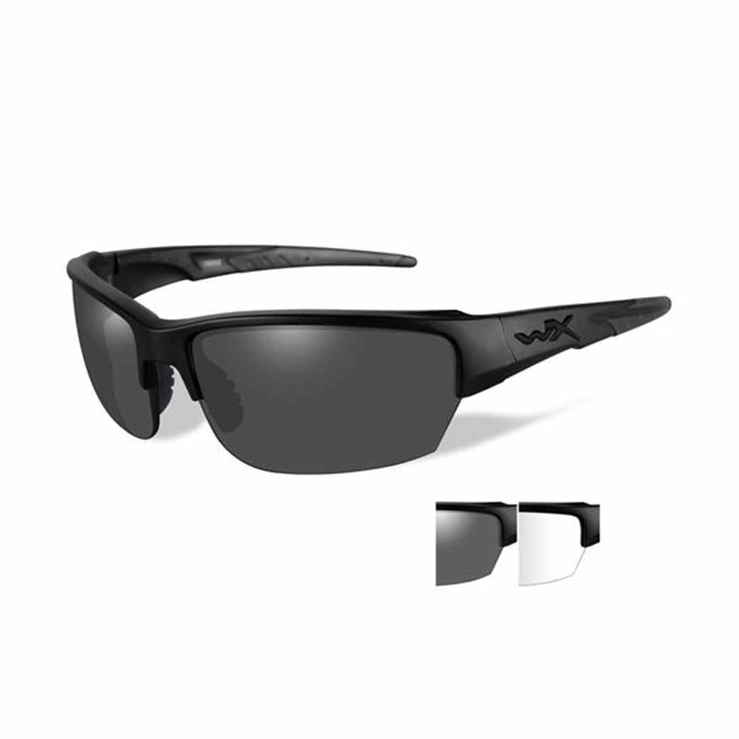 WileyX Saint - 2 Lens - Smoke Grey - Clear (Frame - Matte Black)