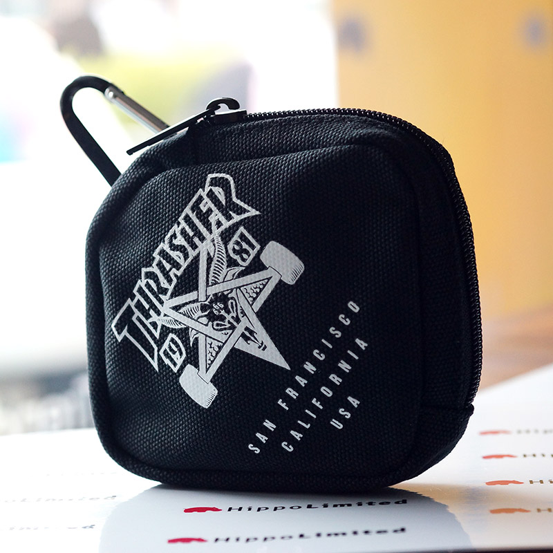 Thrasher Skate Goat Coin Case - Black