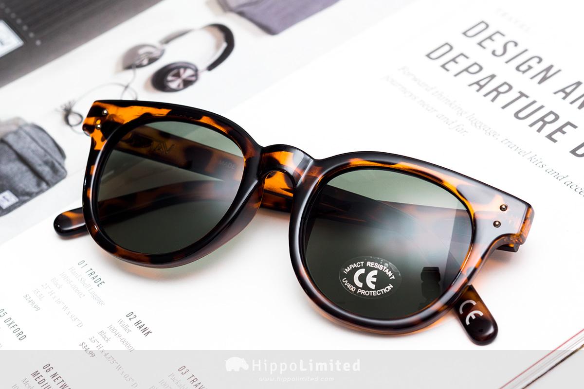 Vans Welborn Sunglasses - Translucent Honeytortoise Green Tint
