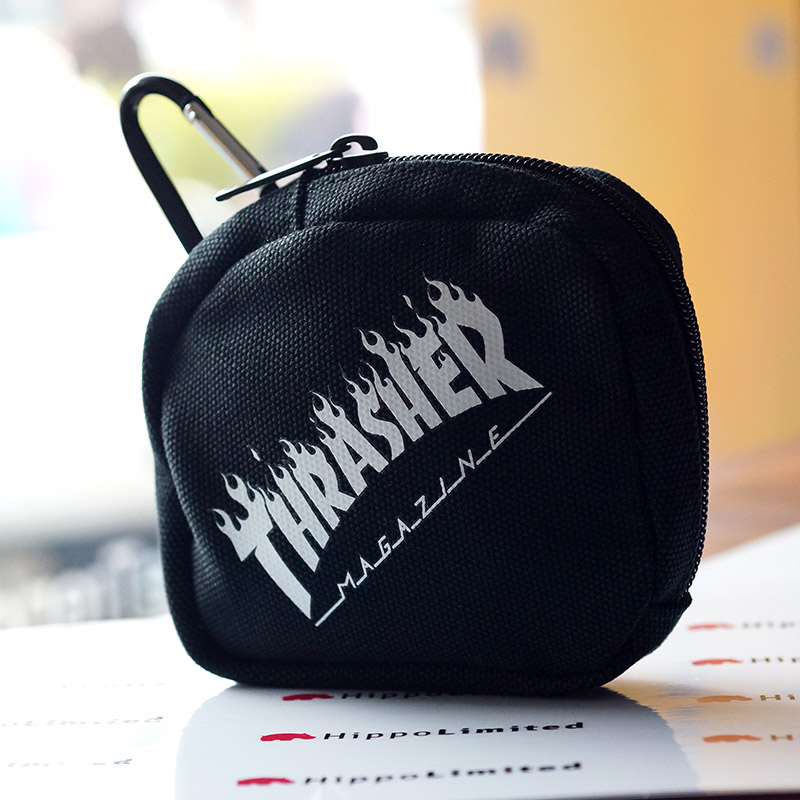 Thrasher Flame Coin Case - Black