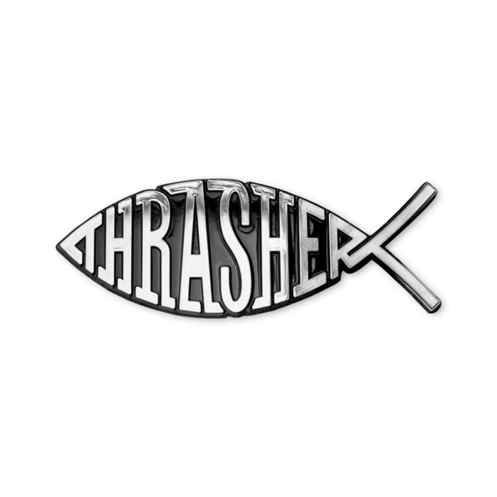 Thrasher Fish Car Emblem
