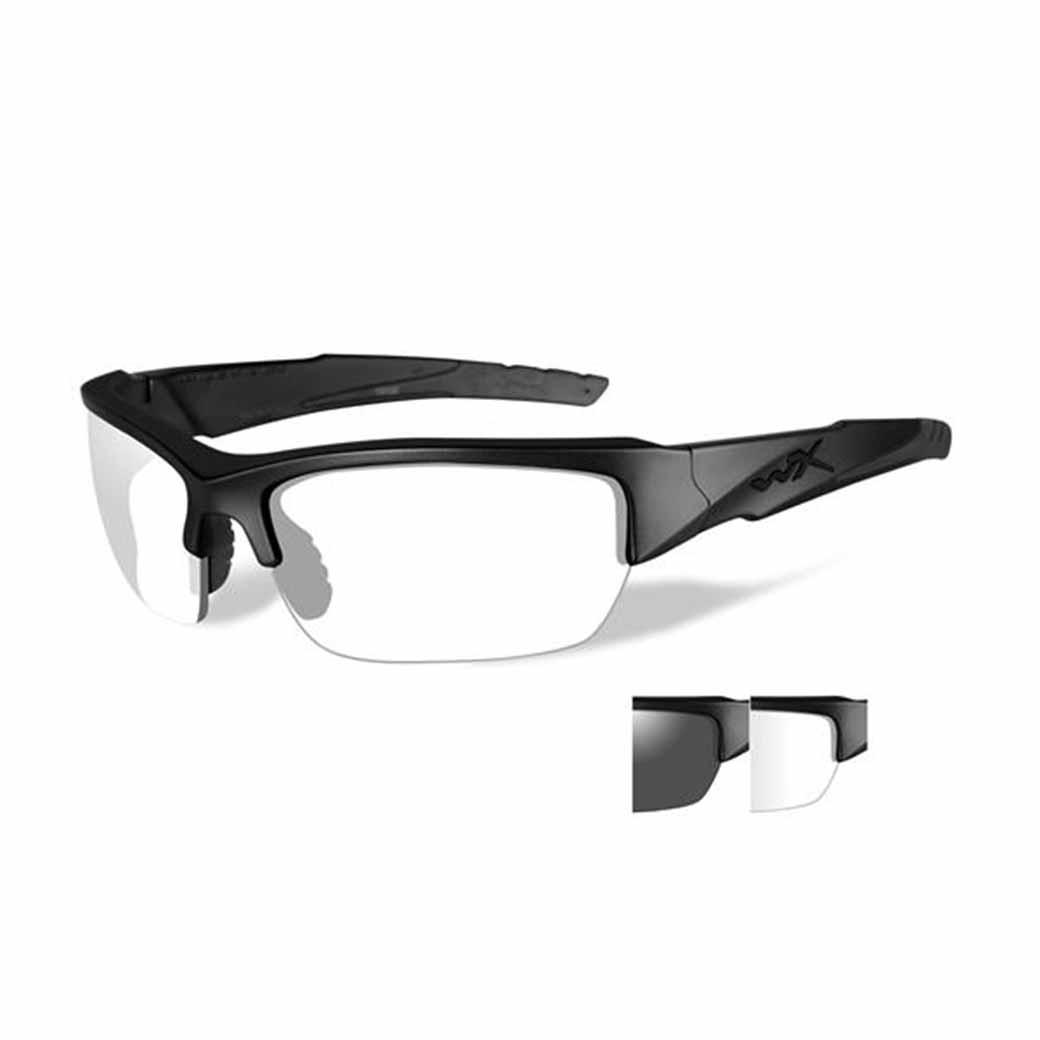 WileyX Valor - 2 Lens- Smoke Grey - Clear (Frame - Matte Black)