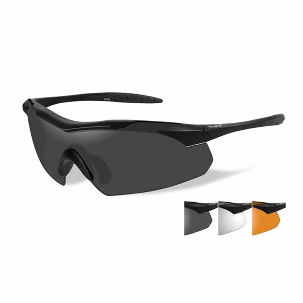 WileyX Vapor - 3 Lens - Smoke Grey/Clear/Rust (Frame - Matt Black)