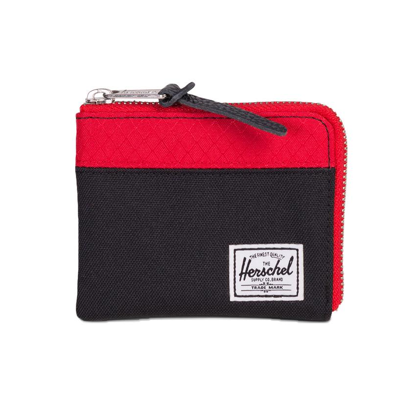 Herschel Johnny Wallet - Black / Scarlet / RFID