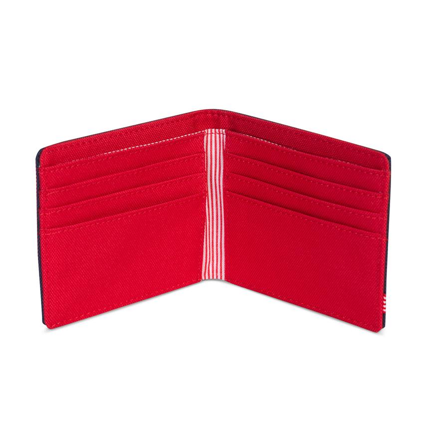 Herschel Roy Wallet - Navy/Red - ด้านใน