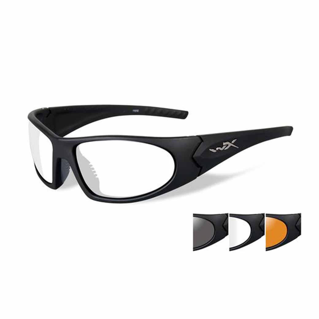 WileyX Romer II Advanced - 3 Lens - Smoke Grey - Clear - Light Rust (Frame - Matte Black)