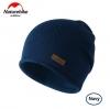 Nature Hike Wool beanie hat (Navy)