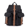 Herschel Dawson Backpack | Womens - Black/Tan Synthetic Leather