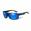WileyX Peak - 1 Lens - Polarized Blue Mirror (Green) (Frame - Matte Black)