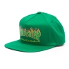 Thrasher Flame Logo Snapback Hat - Green