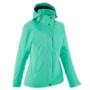 QUECHUA Woman's Waterproof Jacket (Green) - Size S