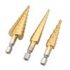 3 ชิ้นต่อชุด HSS Straight-Fluted Titanium Step Drill Bit