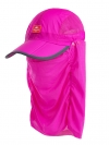 Nature Hike   Folding Quick-Dry Cap with Protective Breathable Mesh (Rosy Red)