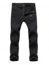 Men's Softshell Windproof Pants สำหรับเล่นสกี (Black)