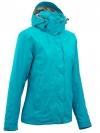 QUECHUA Women's Waterproof Jacket (Blue)