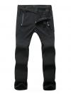 Women's Softshell Windproof Pants สำหรับเล่นสกี (Black)