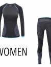 Quick Dry Anti-Microbial Base Layer Set for Women (Black)