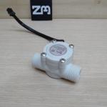 "1-30L/min Water Flow Sensor Flowmeter Hall 1/2"" 2.0MPa (สีขาว)"