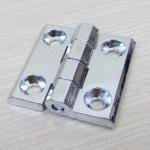 บานพับ 40x40x5mm Zinc alloy ระยะรู 25x25 mm (สีเงิน)