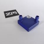 Aluminum Heat Sink ระบายความร้อนด้วยน้ำ 40x40x12mm for CPU (รูบนแผ่นด้านกว้าง)
