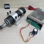 600W Spindle Motor + ER11 Collet + 55mm Clamps + Power Supply Speed Governor