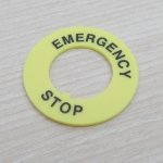 Emergency Stop Pushbutton Switch Panel Label Frame Inner dia 22mm / External dia 40mm