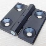 บานพับ 60x60x6mm Zinc alloy ระยะรู 36x36 mm (สีดำ)