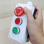 Box Control Switch 3-Position - Start Stop Button Switch, Positive and Negtive