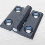 บานพับ 50x50x5mm Zinc alloy ระยะรู 30x30 mm (สีดำ)