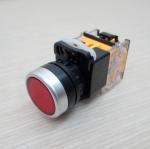 LA38 22mm Flat Head Pushbutton Switch 1NO/1NC Reset (Red) LA38-11BN