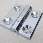 บานพับ 60x60x6mm Zinc alloy ระยะรู 36x36 mm (สีเงิน)