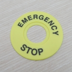 Emergency Stop Pushbutton Switch Panel Label Frame - Inner dia 22mm / External dia 60mm